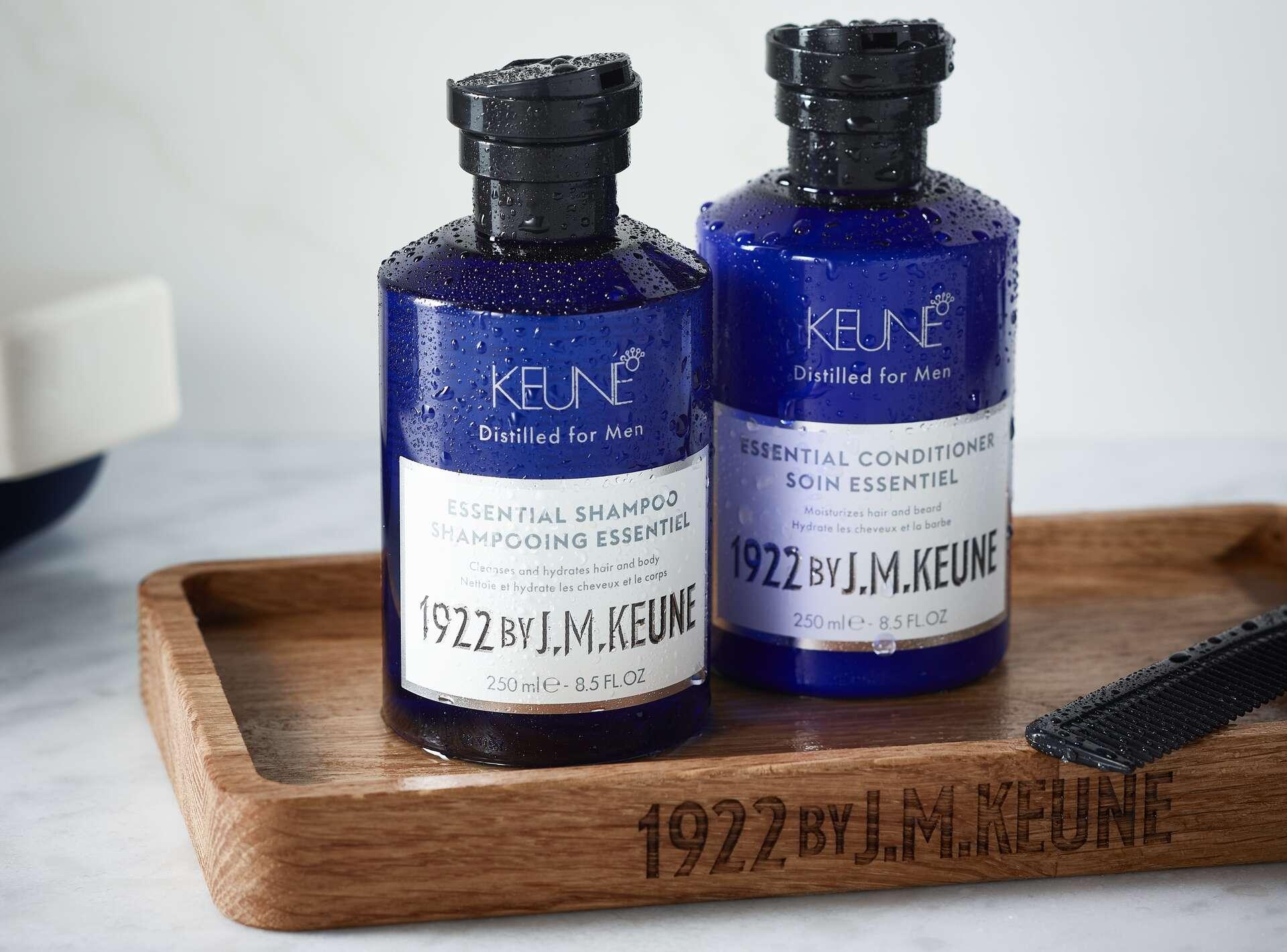 page-hero-1920×1420-medium-keune-1922-essential-shampoo-conditioner-group-lifestyle-api1